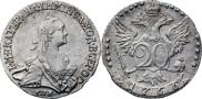 Монета 20 kopecks 1766 года, , Silver