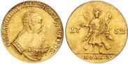 Монета 1 червонец 1751 года, Св. Андрей на реверсе, Золото