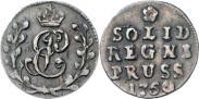 Монета Солид 1760 года, , Серебро
