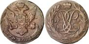 Монета 5 копеек 1762 года, , Медь