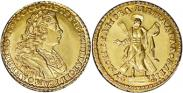 Монета 2 рубля 1728 года, , Золото