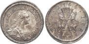 Монета Гривенник 1764 года, Пробный, Серебро