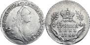 Монета Гривенник 1764 года, , Серебро