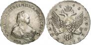 Монета 1 рубль 1744 года, , Серебро