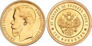Монета 37,5 рублей - 100 франков 1902 года, , Золото