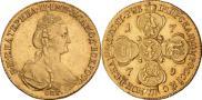 Монета 10 рублей 1780 года, , Золото