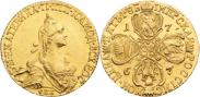 Монета 5 рублей 1769 года, , Золото