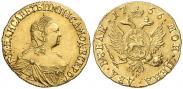 Монета 2 рубля 1758 года, , Золото