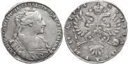 Монета Полтина 1734 года, Тип 1735 года, Серебро