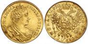 Монета 1 червонец 1730 года, , Золото