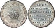 Монета Жетон 1730 года, Коронация Императрицы Анны, Золото