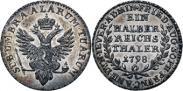 Монета Ein halber reichsthaler 1798 года, Княжество Йевер, Серебро