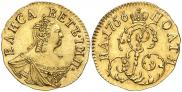 Монета Полтина 1756 года, , Золото
