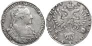 Монета Полтина 1737 года, Тип 1735 года, Серебро