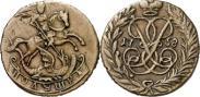 Монета Полушка 1758 года, , Медь