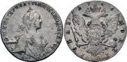 Монета 1 rouble 1766 года, , Silver