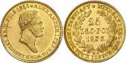 Монета 25 злотых 1833 года, , Золото