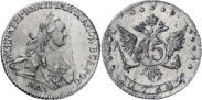 Монета 15 копеек 1765 года, , Серебро