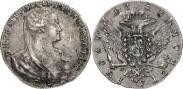 Монета 1 rouble 1766 года, Pattern, Silver