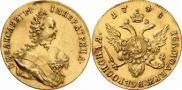 Монета 1 червонец 1744 года, , Золото