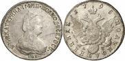 Монета Полуполтинник 1787 года, , Серебро