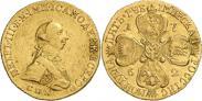 Монета 5 рублей 1762 года, , Золото