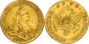 Монета 1 червонец 1763 года, , Золото