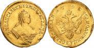 Монета 2 червонца 1751 года, Орел на реверсе, Золото