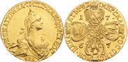 Монета 5 рублей 1767 года, , Золото