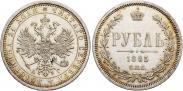 Монета 1 рубль 1884 года, , Серебро