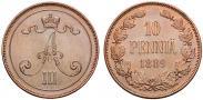 Монета 10 пенни 1890 года, , Медь