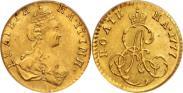 Монета Полтина 1777 года, , Золото