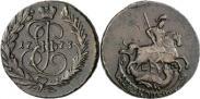 Монета 2 копейки 1765 года, , Медь