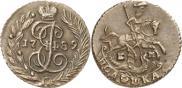 Монета Полушка 1781 года, , Медь