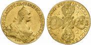 Монета 10 рублей 1774 года, , Золото