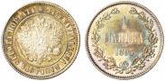 Монета 1 марка 1890 года, , Серебро