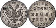 Монета 2 гроша 1761 года, , Серебро