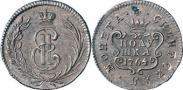 Монета Полушка 1764 года, , Медь