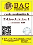 BAC Numismatics, каталог лотов, результаты торгов