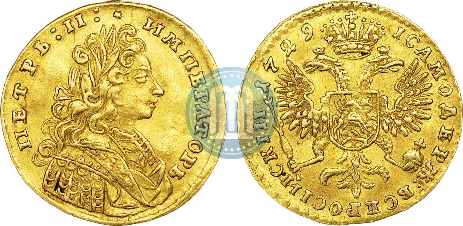 Russian 1 ducat 1729 year | Coin auctions sale prices | Gold