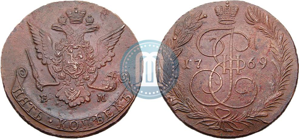 5 копеек 1769 года стоимость справочник улицы перми