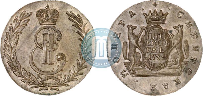 5 копеек 1774 года цена вольмер