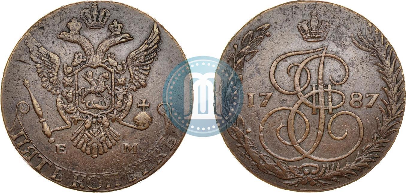 5 копеек 1787 года цена продать евро монеты москва