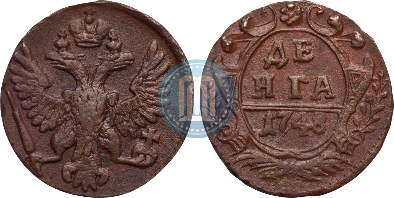 Монета денга 1748 года коллекция альбомы
