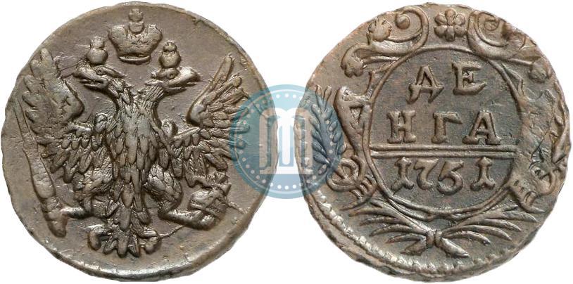 Денга 1755 года цена спички советские цена