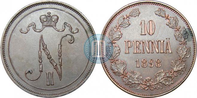 10 пенни 1898 года