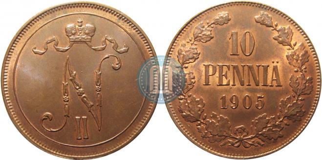 10 pennia 1905 year