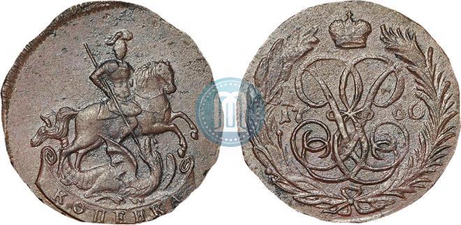 1 kopeck 1760 year