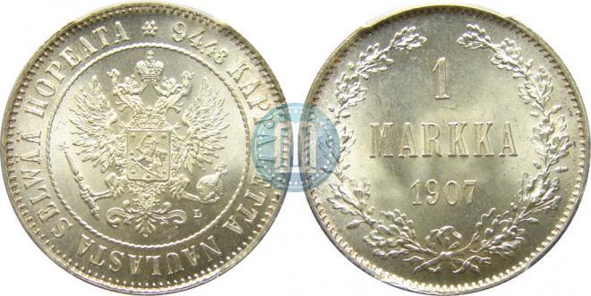 1 markka 1907 year