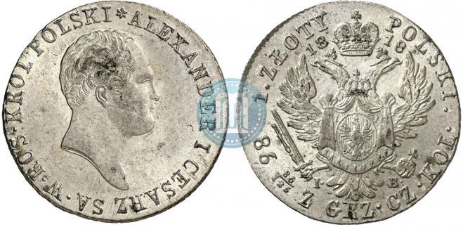 1 злотый 1818 года